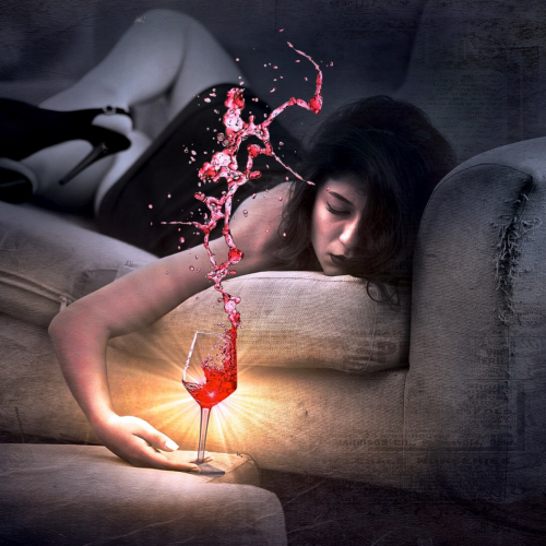 falling alseep with wine
