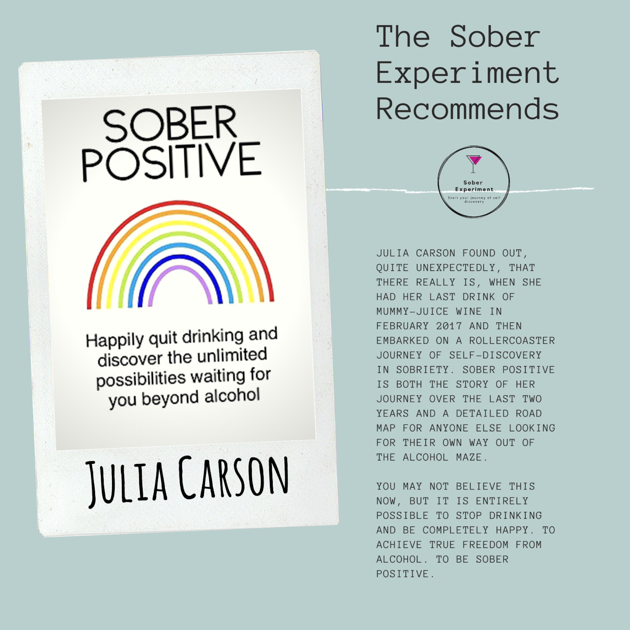 The Sober Experiment Recommends Sober Positive by Julia Carson