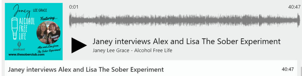 Alex and Lisa Feature on Janey Lee Graces Podcast Alcohol Free Life